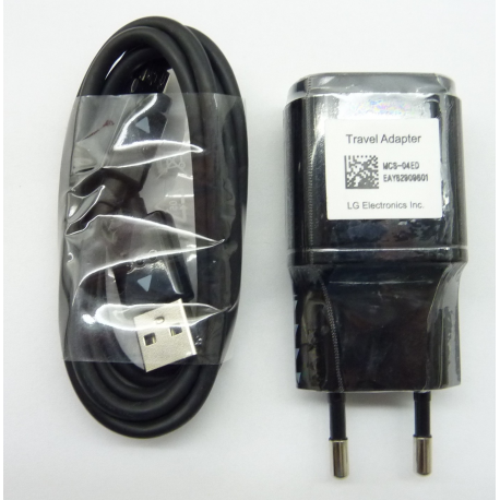 Incarcator priza original LG MCS-04ED negru cu cablu